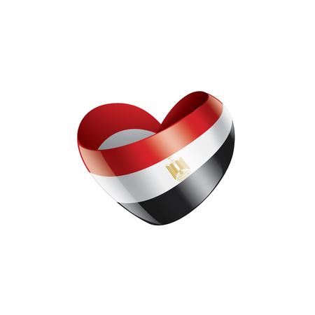 Egypt national flag, vector illustration on a white background  イラスト・ベクター素材