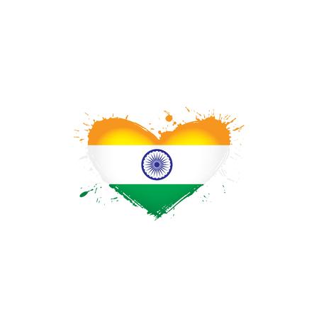 India national flag, vector illustration on a white background