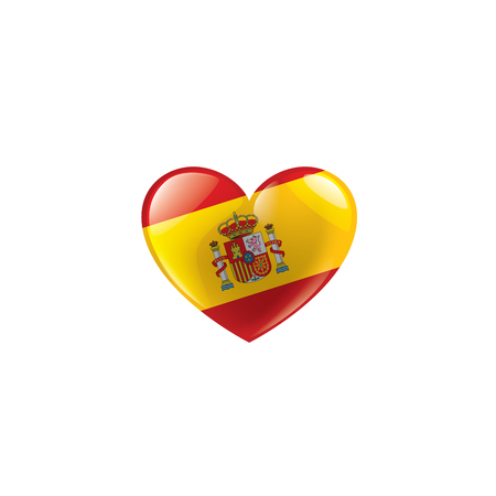 spain national flag, vector illustration on a white background