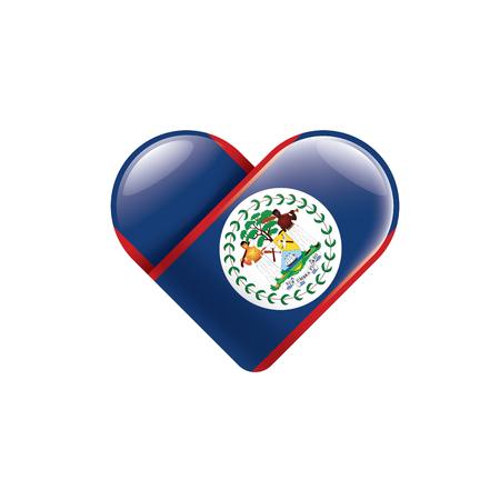 Belize national flag, vector illustration on a white background Vectores