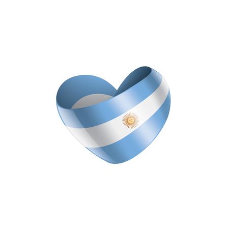 Argentina national flag, vector illustration on a white background