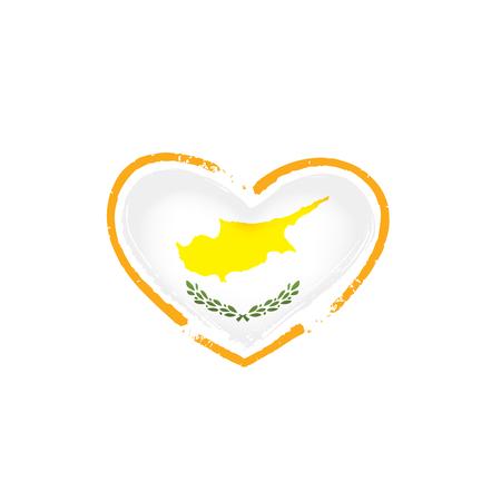 Cyprus flag, vector illustration on a white background Illustration