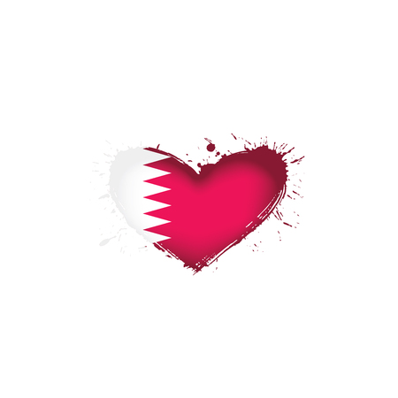Qatar national flag, vector illustration on a white background