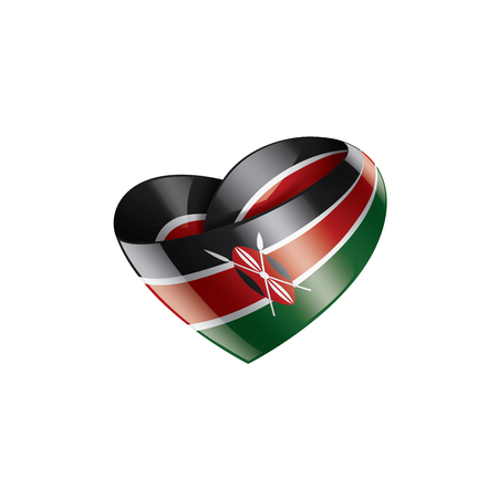 Kenya national flag, vector illustration on a white background Stock Illustratie