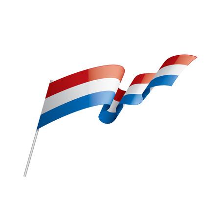 Netherlands flag, vector illustration on a white background.