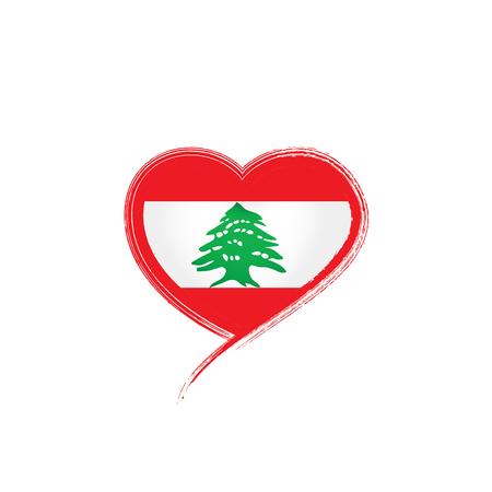 Lebanese national flag, vector illustration on a white background Vector Illustration