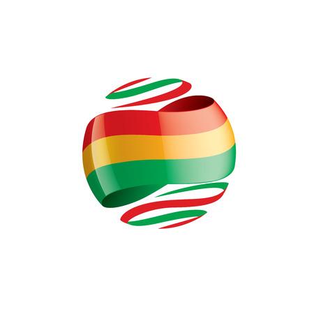 Bolivia flag, vector illustration on a white background Vector Illustration