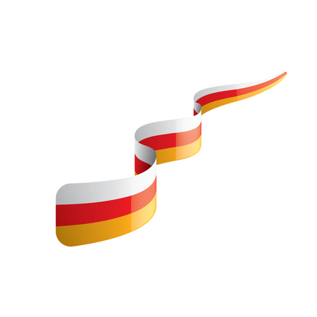 South Ossetia flag, vector illustration on a white background