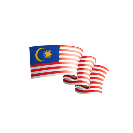 Malaysia flag, vector illustration on a white background Vetores