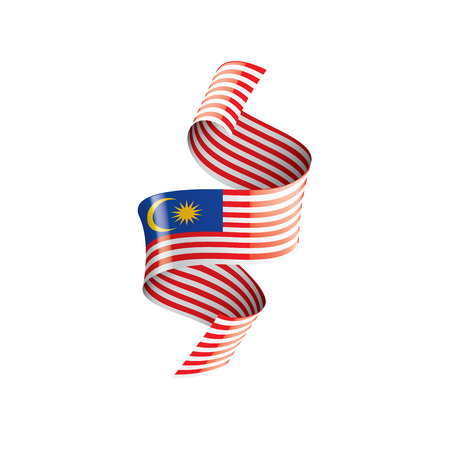 Malaysia flag, vector illustration on a white background 免版税图像 - 126660000
