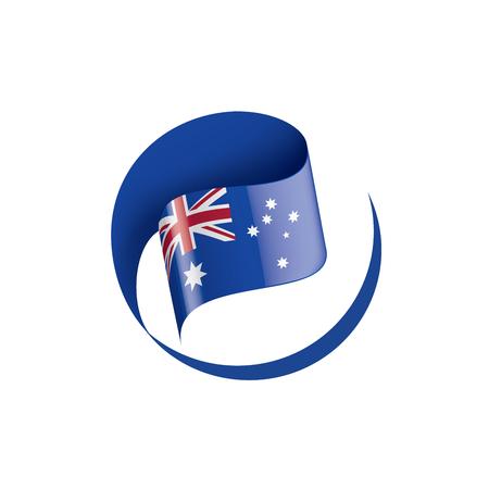 Australia flag, vector illustration on a white background Vector Illustration
