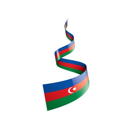 Azerbaijan flag, vector illustration on a white background.