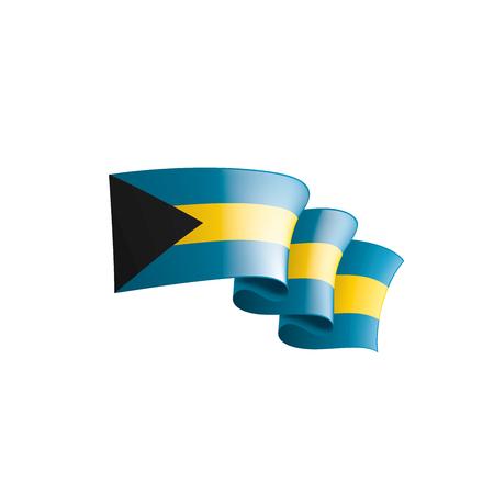Drapeau des Bahamas, illustration vectorielle sur fond blanc
