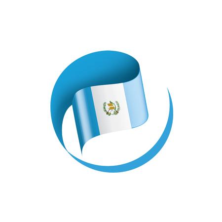 Guatemala flag, vector illustration on a white background Vector Illustration
