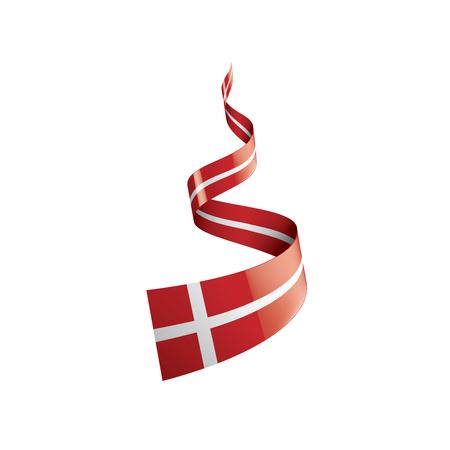 Drapeau du Danemark, illustration vectorielle sur fond blanc