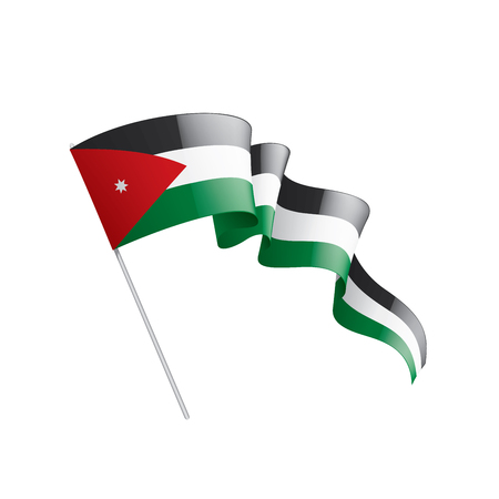 Jordan flag, vector illustration on a white background