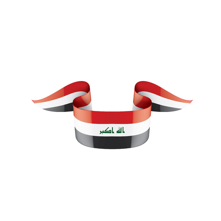 Iraqi flag, vector illustration on a white background Vectores