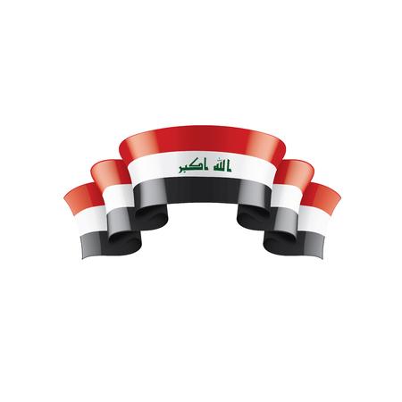 Iraqi flag, vector illustration on a white background