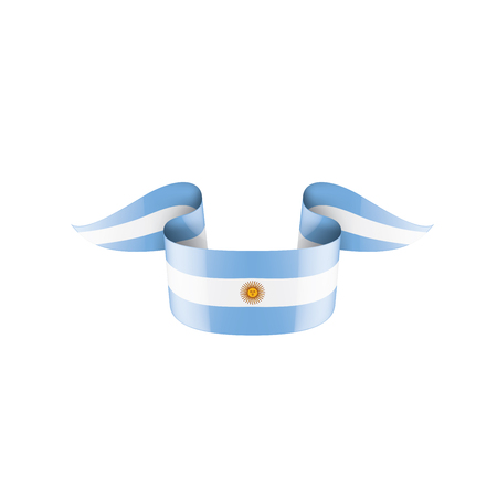 Argentina flag, vector illustration on a white background Ilustracja