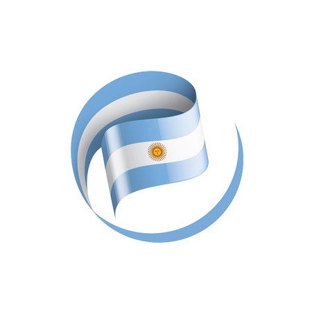 Argentina flag, vector illustration on a white background 向量圖像