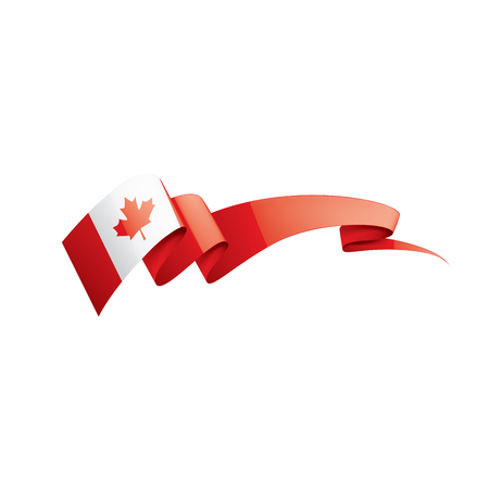Canada flag, vector illustration on a white background Vektorové ilustrace
