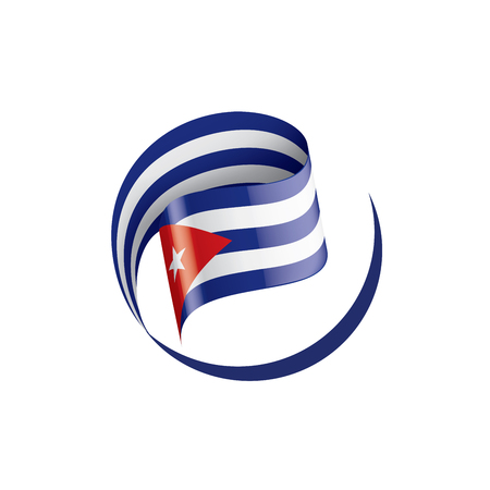 Cuba national flag, vector illustration on a white background Vector Illustration