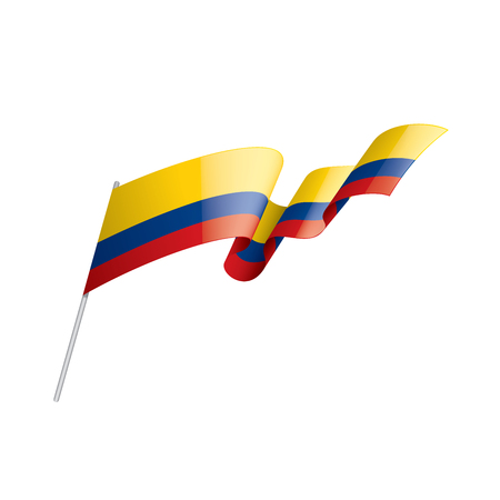 Colombia national flag, vector illustration on a white background