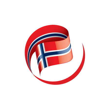 Norway national flag, vector illustration on a white background Illustration