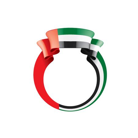 United Arab Emirates national flag, vector illustration on a white background