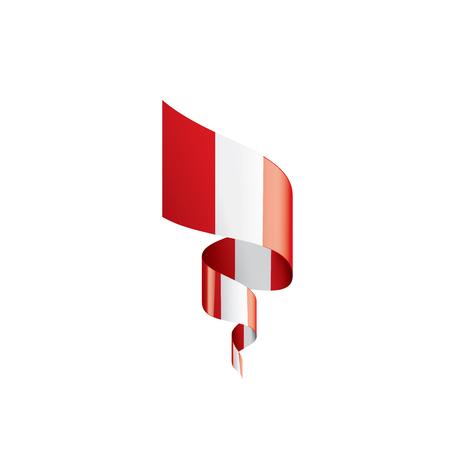 Peru national flag, vector illustration on a white background Illusztráció