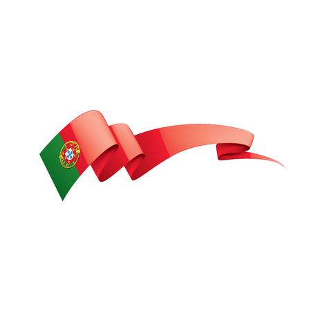 Portugal national flag, vector illustration on a white background