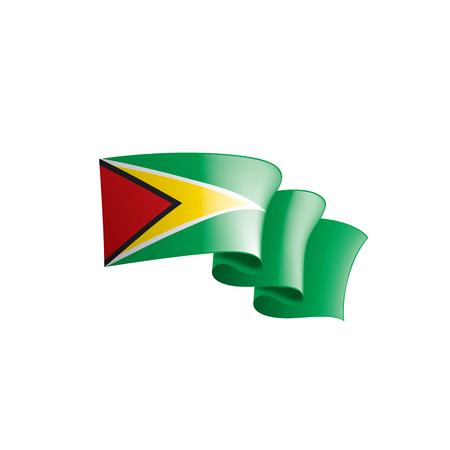 Guyana national flag, vector illustration on a white background