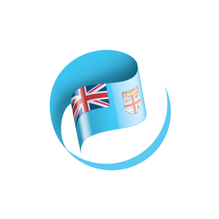 Fiji national flag, vector illustration on a white background Illustration