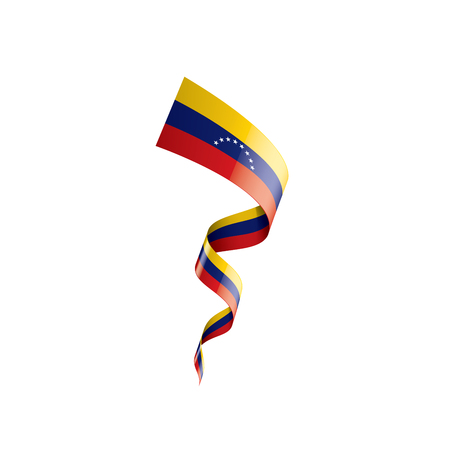 Venezuela national flag, vector illustration on a white background Vectores