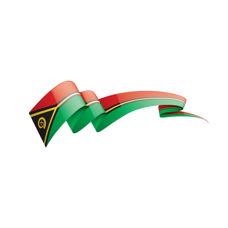 Vanuatu national flag, vector illustration on a white background