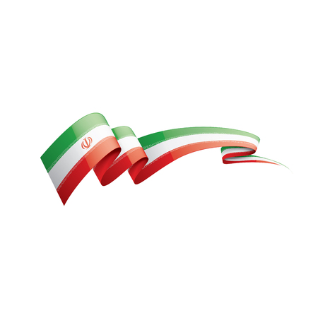 Iran flag, vector illustration on a white background Archivio Fotografico - 114389297