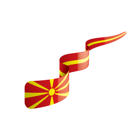 Macedonia national flag, vector illustration on a white background
