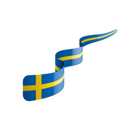 Schweden-Nationalflagge, Vektorillustration auf einem weißen Hintergrund Vektorgrafik