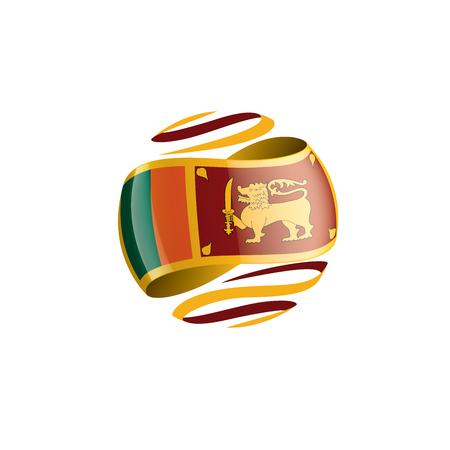 Sri Lanka flag, vector illustration on a white background