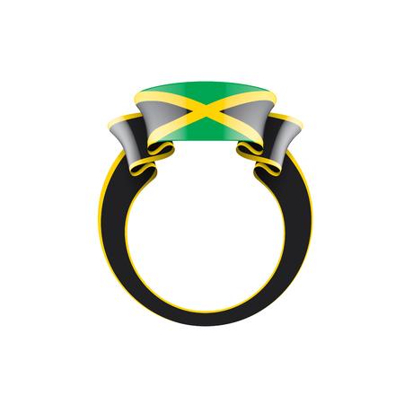 Jamaica national flag, vector illustration on a white background Illustration