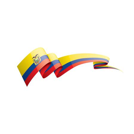 Ecuador national flag, vector illustration on a white background