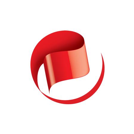 Red sticker on white background. Vector illustration.