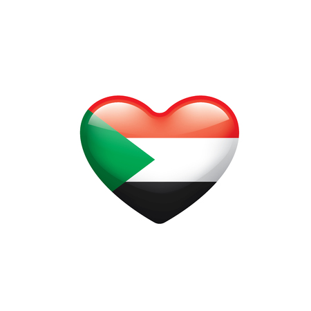 Sudan national flag, vector illustration on a white background