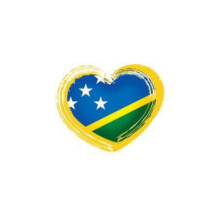 Solomon Islands national flag, vector illustration on a white background
