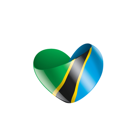 Tanzania national flag, vector illustration on a white background