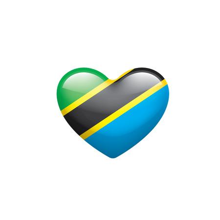 Tansania Nationalflagge, Vektorillustration auf einem weißen Hintergrund