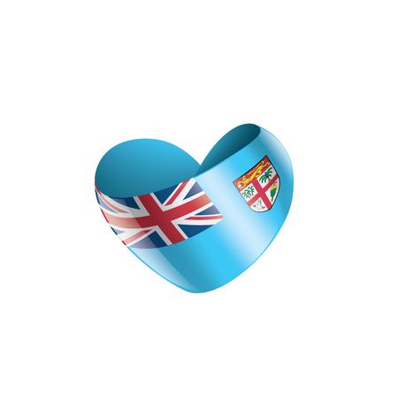 Fiji national flag, vector illustration on a white background Illustration