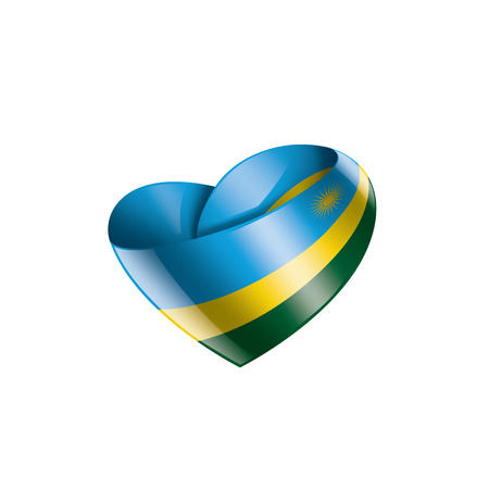 Rwanda national flag, vector illustration on a white background Illustration