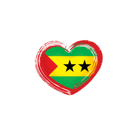 Sao Tome and Principe national flag, vector illustration on a white background Ilustração Vetorial