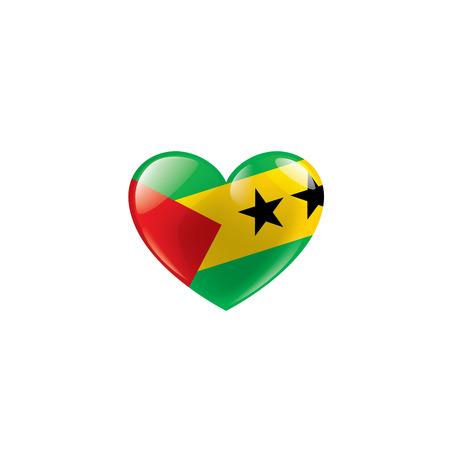 Sao Tome and Principe national flag, vector illustration on a white background Ilustração